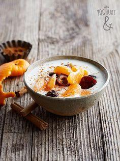 Yoghurt & Klementin & Dadler & Kanel - Se flere spennende yoghurtvarianter på yoghurt.no - Et inspirasjonsmagasin for yoghurt.