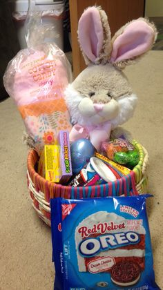 Easter basket ideas for college students pinterest basket ideas technically an easter basket but also a feel better gift basket negle Image collections