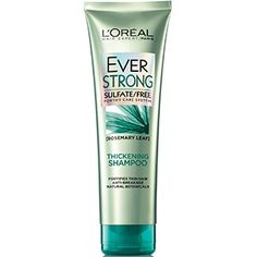 EverStrong Thickening Shampoo For Fine, Limp & Thinning Hair by L'Oréal Paris. Energizing cleanser boosts volume, fortifies the scalp & helps strengthen hair.