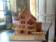 Making house by toothpicks