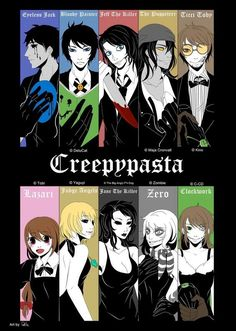 Eyeless Jack, Bloody Painter, Jeff the Killer, The Puppeteer, Ticci Toby… Jeff The Killer, Familia Creepy Pasta, Creepy Pasta Family, Eyeless Jack, Elsword, Anti Social, The Puppeteer Creepypasta, Lazari Creepypasta, Clockwork Creepypasta