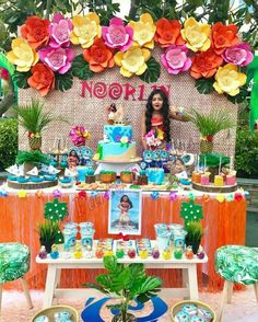 The Ultimate List Of Moana Party Food Ideas . De Party Designs 's Birthday / Moana - Photo Gallery at Catch My PartyThe Ultimate Hawaiian Birthday, Luau Birthday, 6th Birthday Parties, Moans Birthday Party, Hawaiian Parties, Hawaiian Luau, Jasmin Party, Lila Party, Moana Birthday Party Theme
