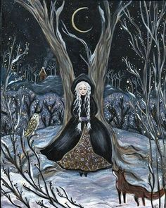 lady viktoria christmas: 1 thousand results found on Yandex.Images Fantasy Forest, Fantasy Art, Fantasy Witch, Victoria Art, Nature Spirits, Winter's Tale, Witch Art, Dark Art, Halloween