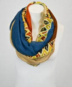 Look what I found on #zulily! Leto Collection Rust & Navy Abstract Infinity Scarf by Leto Collection #zulilyfinds