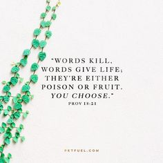 It takes discipline to choose which words to use and to choose which words will take up home in your heart... {CLICK IMAGE FOR MORE}