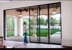 Love these windows/sliding doors