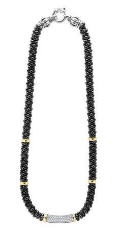 @LAGOSjewelry Black Caviar   Diamond Caviar Necklace   LAGOS.com   #loveLAGOS #StackWithBlack