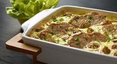 Schab zapiekany pod beszamelem z pieczarkami - Kuchnia Lidla