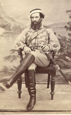 Officer of an Indian cavalry regiment during the Third Anglo-Asante War
