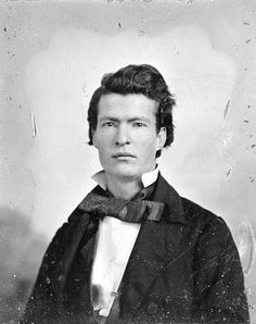 Mark Twain, portrait from the early-1850s.  Quintessential American author.  Wildly humorous, brilliantly observant, clever and socially aware.  Ahead of his time.  If you've never read any Twain, start with Huck Finn.