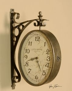 RESTORATION HARDWARE: Uttermost Train Station Clock