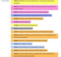 #OSCC15 Schedule - http://opensimulatorcommunity20151914.sched.org