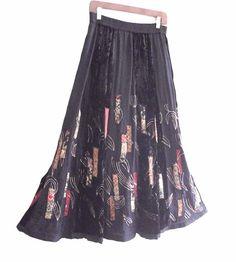 Black Velvet Gypsy Skirt by KheGreen on Etsy