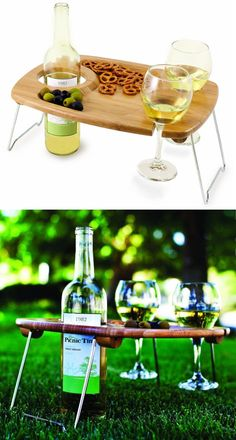 Picnic Wine & Snack Table.