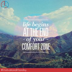 Comfort zone......It only guards you from success. #MotivationalMonday