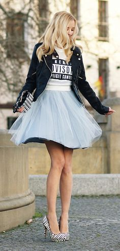 tutu skirt/parental advisory shirt?!! Um..Yes Plz!! In Luv!! Total Vaca Outfit Cali,CO,NYC