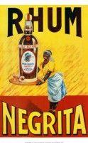 Rhum Negrita Vintage Food&Drink Poster - Poster Print, Sticker or Canvas Print / Gift Idea / Wall Decor Retro Vintage, Vintage Labels, French Vintage, Vintage Black, Vintage Food, Style Vintage, Vintage Advertising Posters, Vintage Advertisements, Vintage Posters