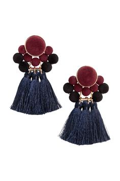 Earrings - Dark blue/burgundy - Ladies | H&M CA 1