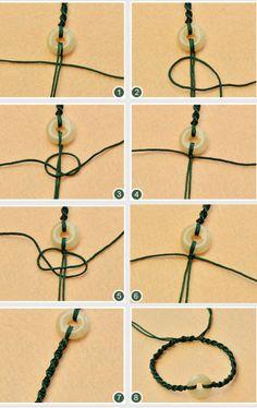 Beebeecraft tutorials on making stringmaterials nylonthread braided bracelet Diy Bracelets Easy, Bracelet Crafts, Braided Bracelets, Handmade Bracelets, Jewelry Crafts, Friendship Bracelets, Leather Bracelets, Leather Cuffs, Jewelry Knots