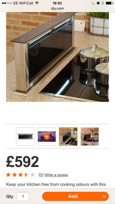 Pop up extractor B&Q Pop Up, Coffee Maker, Kitchen Appliances, Cooking, Ideas, Home, Coffee Maker Machine, Diy Kitchen Appliances, Kitchen