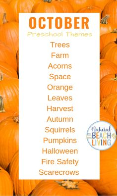 20+ October Preschool Themes with Lesson Plans and Activities - Natural Beach Living