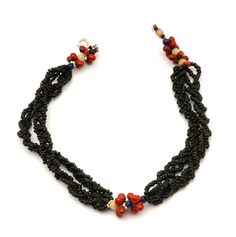 "Africa | ""Mohlehlo"" ~ Glass bead necklace from the Upper Zambezi, Zambia 