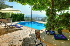 Klima - Corfu Villas In Corfu, Villa With Private Pool, Vintage Travel, Terrace, Greece, Patio, Beach, Outdoor Decor, Home