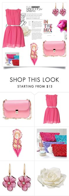 """""""pink ponk :) party"""" by ayeshaghori ❤ liked on Polyvore featuring beauty, Valentino, PBteen, Rina Limor, T&C Floral Company, Allstate Floral and pretty"""