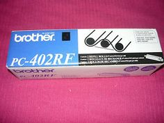 Brother PC-402RF FAX Machine Cartridge Refill Film Ribbon Black 2 pack