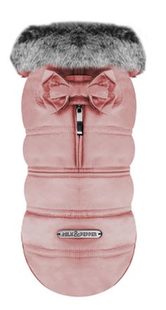 Halia Blush Dog Coat by Milk & Pepper