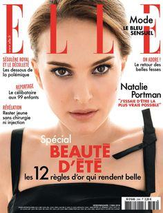 SPÉCIAL BEAUTÉ D'ÉTÉ avec la sublime Natalie Portman (n°3566). fashion, style, cover, magazine, ELLE France