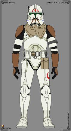 Custom Troopers - Rebel Trooper by JackAubreySW Star Wars Characters Pictures, Star Wars Pictures, Star Wars Images, Star Wars Icons, Star Wars Rpg, Star Wars Clone Wars, Star Wars Concept Art, Star Wars Fan Art, Republic Commando