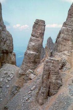 Pisa Towers, Latemar, Dolomiti, Italy