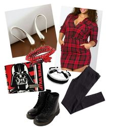 """Red and Black Day"" by criketdawn on Polyvore featuring H&M, Bling Jewelry and AeraVida"