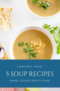 5 soup recipes to try this Fall. Comfort food for lazy Sundays #soup #fallrecipes