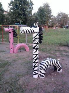 Reciclando neumáticos: Animales