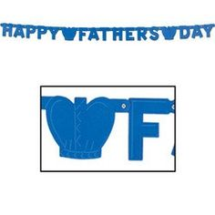 """Our Foil Happy Father's Day Streamer is perfect for decorating any Father's Day celebration! Features a blue foil banner that reads """"Happy Father's Day"""" and crown attachments separating each word. Measures x Includes 1 letter banner per package. Fathers Day Banner, Happy Fathers Day, Fathers Day Gifts, Father's Day Celebration, Best Amazon Products, Father Figure, I Cool, Coupon Organization, Good Good Father"""