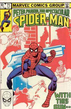 Peter Parker, The Spectacular Spider-Man # 71 by John Romita Jr. Marvel Comic Character, Marvel Comic Books, Comic Book Heroes, Comic Books Art, Book Art, Avengers Comics, Dc Comics, Vintage Comic Books, Vintage Comics