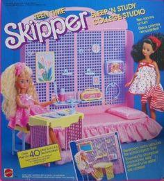Teen time skipper playset   Barbie TEEN TIME SKIPPER Sleep 'n Study College Studio... review at ...