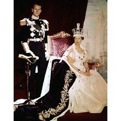 2 June 1953: The Duke of Edinburgh with Queen Elizabeth II  on her Coronation