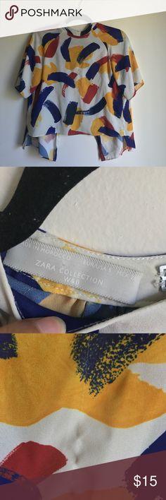 ‼️FINAL SALE‼️Zara Open Back Tops Easy dry top. sexyback top. minor damage(see attach photo) Zara Tops