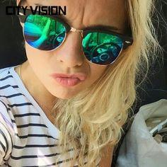 0ba94348c1702 R  26.31 50% de desconto CALIFIT 2018 Novo Clássico Polarizada Óculos De Sol  Mulheres Espelhar Homens Óculos Marca Designer UV400 Shades Oculos de Óculos  De ...