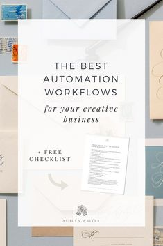 Today, I'd like to share some of the automation workflows for your creative business that have helped ME things run on auto, even when I can't—the things that allow my business to be productive and keep moving forward.  #automation #workflows #creativebusiness #ashlynwrites #copywriter #calligrapher Creative Business, Business Tips, Online Business, Business Entrepreneur, Copywriting, Content Marketing, Productivity, Wedding Planner, Wedding Event Planner