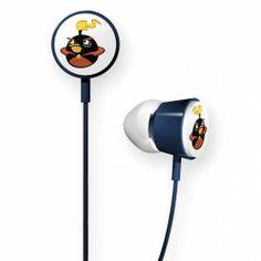 Gear4 HAB009G Angry Birds Space In-Ear Stereo Headphones - (Fire Bomb Bird )