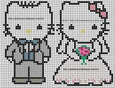 Schematic cross stitch Hello kitty2.  FREE GRAPH 9/14.