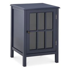 Threshold™ Windham One Door Accent Cabinet in Navy. I want two of them, one for each side of the bed.