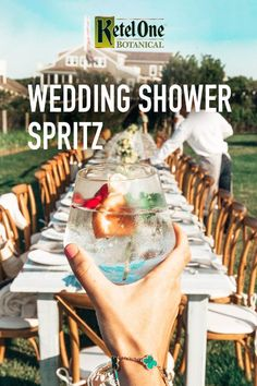 A Botanical Spritz is the perfect cocktail as summer wedding season turns into fall. Refresh your guests, and the bride, with a signature cocktail. To make a Botanical Spritz, mix oz Ketel One…More Wedding Party Dresses, Wedding Bouquets, Bridal Dresses, Wedding Rompers, Wedding Shoes, Prom Dresses, Wedding Wallpaper, 8k Wallpaper, Summer Wedding