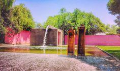 Fuente de los Enamorados #luisbarragan #colors #mexico #trees #pink #belleza #water