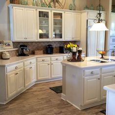 Kitchen makeover in linen milk paint general finishes for White milk paint kitchen cabinets