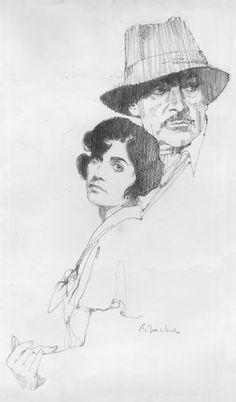 Bernie Fuchs sketches